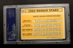 1963 Topps #553   Rookie Stars  -  Willie Stargell / Jim Gosger / Brock Davis / John Herrnstein Back Thumbnail