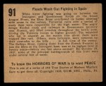 1938 Gum Inc. Horrors of War #91  Floods Wash Out Fighting in Spain  Back Thumbnail