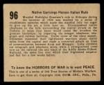 1938 Gum Inc. Horrors of War #96   Native Uprisings Harass Italian Rule Back Thumbnail