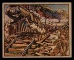 1938 Gum Inc. Horrors of War #102   Chinese Guerillas Wreck Supply Train Front Thumbnail