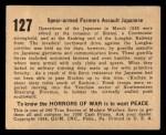1938 Gum Inc. Horrors of War #127   Spear-armed Farmers Assault Japanese Back Thumbnail