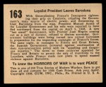 1938 Gum Inc. Horrors of War #163  Loyalist President Leaves Barcelona  Back Thumbnail
