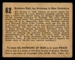 1938 Gum Inc. Horrors of War #62  Bombers Raid Jap Airdrome in New Defensive  Back Thumbnail