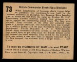 1938 Gum Inc. Horrors of War #73  British Commander Breaks Up Blockade  Back Thumbnail