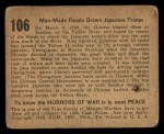 1938 Gum Inc. Horrors of War #106  Man-Made Floods Drown Japanese Troops  Back Thumbnail