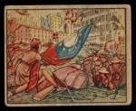 1938 Gum Inc. Horrors of War #17   Girl Scout Carries Flag to Doomed Men Front Thumbnail