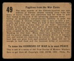 1938 Gum Inc. Horrors of War #49   Fugitives from the War Zones Back Thumbnail