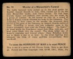 1938 Gum Inc. Horrors of War #19  Murder at Monarchist's Funeral  Back Thumbnail