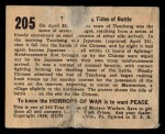 1938 Gum Inc. Horrors of War #205   The Changing Tides of Battle Back Thumbnail