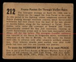 1938 Gum Inc. Horrors of War #212  Franco Pushes on Through Violent Rains  Back Thumbnail