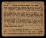 1938 Gum Inc. Horrors of War #40  Panay Machine Gunners Fight Back  Back Thumbnail