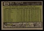 1961 Topps #536   Bill Tuttle Back Thumbnail
