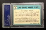 1965 Topps #461  Braves Rookies  -  Phil Niekro / Clay Carroll Back Thumbnail