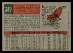 1959 Topps #349   Hoyt Wilhelm Back Thumbnail