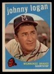 1959 Topps #225   Johnny Logan Front Thumbnail