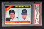 1966 Topps #584   -  Fritz Peterson / Frank Fernandez Yankees Rookies Front Thumbnail