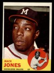 1963 Topps #137   Mack Jones Front Thumbnail