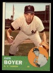 1963 Topps #361   Clete Boyer Front Thumbnail