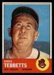 1963 Topps #48   Birdie Tebbetts Front Thumbnail