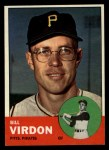 1963 Topps #55   Bill Virdon Front Thumbnail