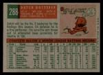 1959 Topps #288   Dutch Dotterer Back Thumbnail