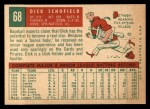1959 Topps #68  Dick Schofield  Back Thumbnail