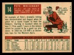 1959 Topps #14  Pete Whisenant  Back Thumbnail