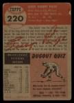 1953 Topps #220   Satchel Paige Back Thumbnail