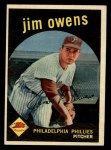 1959 Topps #503  Jim Owens  Front Thumbnail