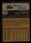 1973 Topps #557  Bernie Williams  Back Thumbnail