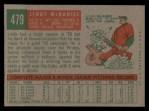 1959 Topps #479   Lindy McDaniel Back Thumbnail