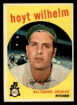 1959 Topps #349   Hoyt Wilhelm Front Thumbnail