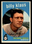 1959 Topps #299   Billy Klaus Front Thumbnail