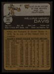 1973 Topps #35  Willie Davis  Back Thumbnail
