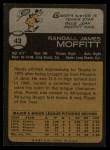 1973 Topps #43   Randy Moffitt Back Thumbnail