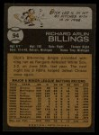 1973 Topps #94  Dick Billings  Back Thumbnail