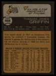 1973 Topps #468   Tom Griffin Back Thumbnail