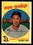 1959 Topps #496  Wayne Terwilliger  Front Thumbnail