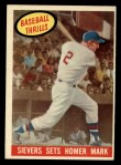 1959 Topps #465  Sievers Sets Homer Mark  -  Roy Sievers Front Thumbnail