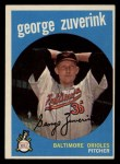 1959 Topps #219   George Zuverink Front Thumbnail