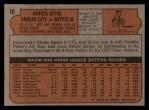 1972 Topps #10   Amos Otis Back Thumbnail