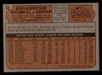 1972 Topps #53   Bud Harrelson Back Thumbnail