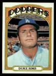 1972 Topps #63  Duke Sims  Front Thumbnail