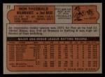 1972 Topps #77  Ron Theobald  Back Thumbnail