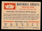 1960 Fleer #1   Nap Lajoie Back Thumbnail
