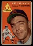 1954 Topps #26  Ray Jablonski  Front Thumbnail
