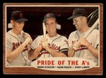 1962 Topps #127 A  -  Norm Siebern / Hank Bauer / Jerry Lumpe Pride of the A's Front Thumbnail