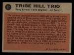 1962 Topps #37  Tribe Hill Trio  -  Jim Perry / Dick Stigman / Barry Latman Back Thumbnail
