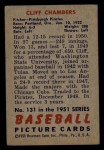 1951 Bowman #131  Cliff Chambers  Back Thumbnail