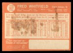 1964 Topps #367   Fred Whitfield Back Thumbnail